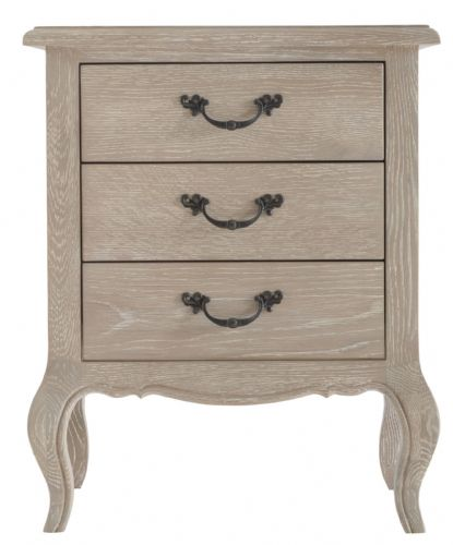 French Château 3 Drawer Bedside